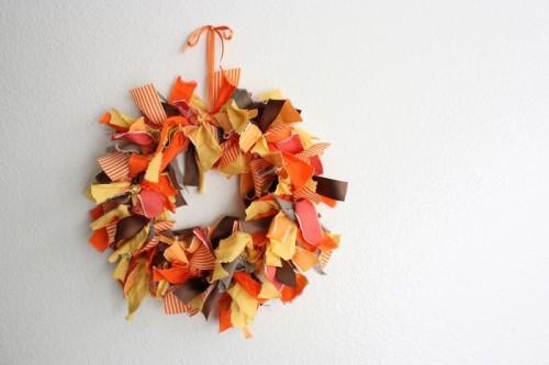 Thanksgiving Fabric Wreath