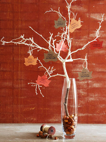 Thanksgiving Tree With Paper Leaves