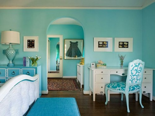 Cool Turquoise Decorating Ideas Shelterness - Turquoise bedroom decorating ideas