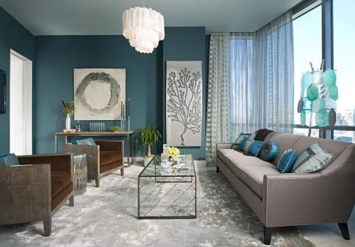 Living Room Ideas Turquoise Property Mesmerizing 55 Cool Turquoise Decorating Ideas  Shelterness Review