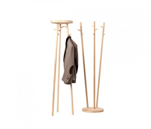 Flexible Wood Coat Rack