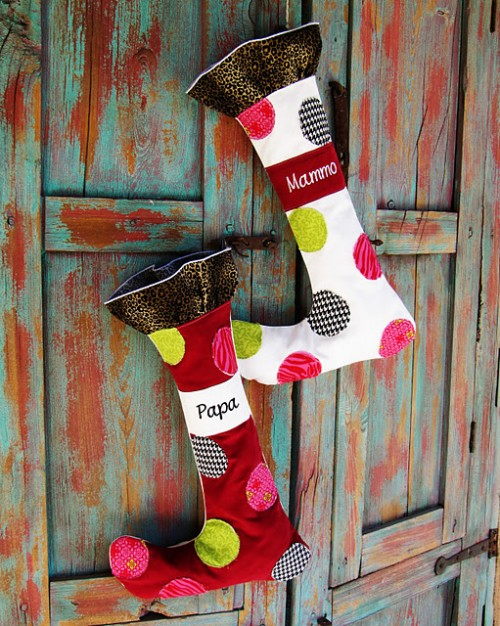 Whimsical Christmas Stocking  (via positivelysplendid)
