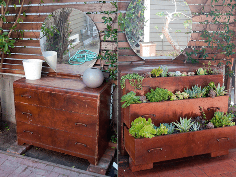 How TO Repurpose A Dresser Into A Home Garden