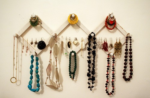 DIY Jewelry Wall Storage