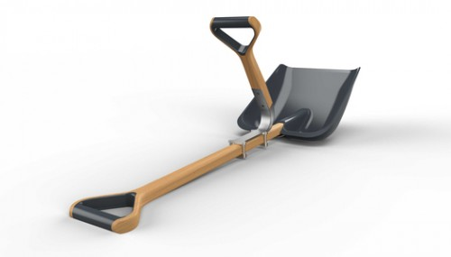 Easy To Install Additional Handle For a Ordinary Shovel