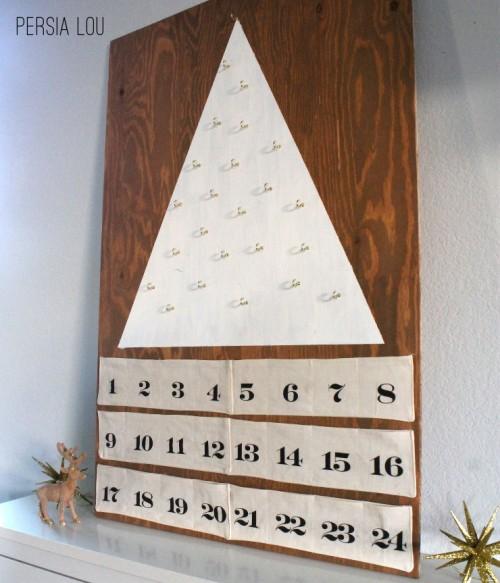 modern tree advent calendar
