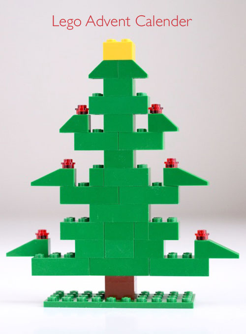 LEGO advent tree (via willowday)