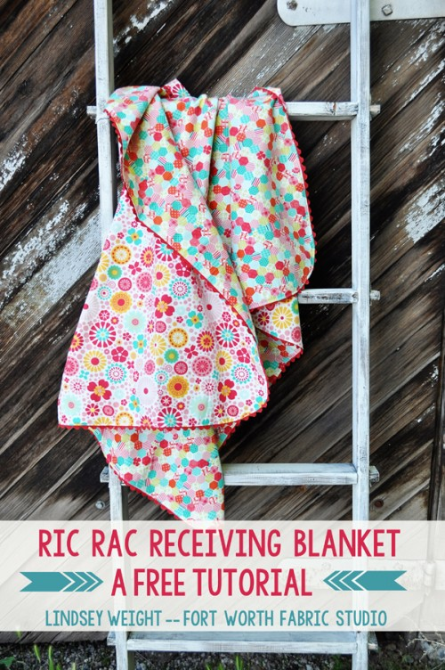 ric rac receiving blanket (via fortworthfabricstudio)