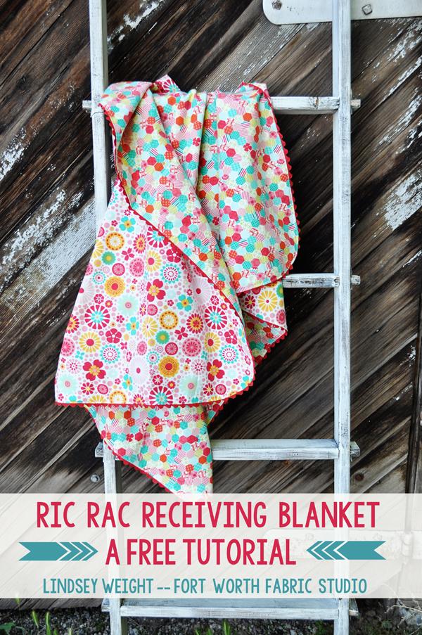 ric rac receiving blanket