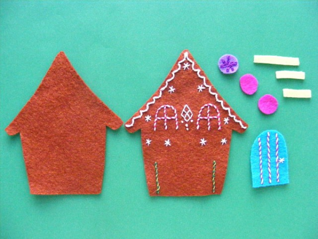 Picture Of adorable diy felt gingerbread ornament  4