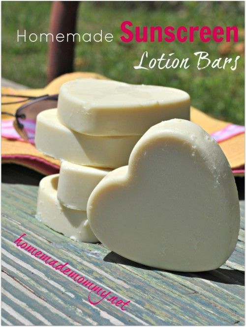 non-toxic sunscreen lotion bars (via homemademommy)