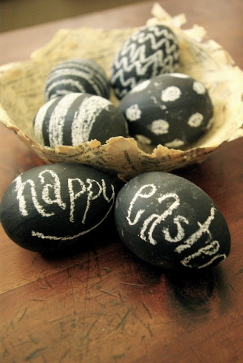 chalkboard Easter eggs (via shelterness)