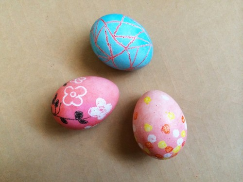 crayon Easter eggs