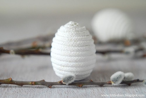 rope wrapped eggs