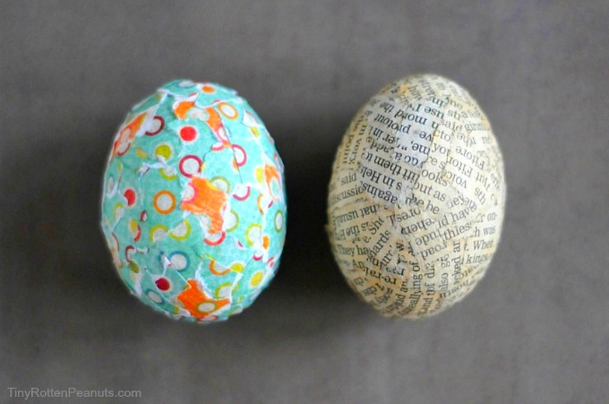 paper collage Easter eggs