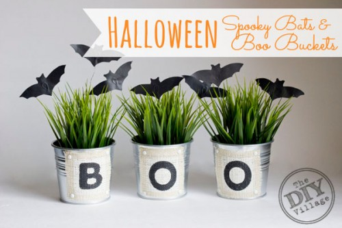 spooky bats buckets (via thediyvillage)