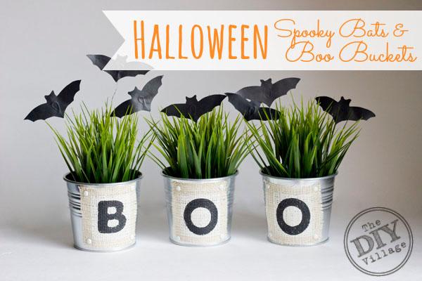 spooky bats buckets