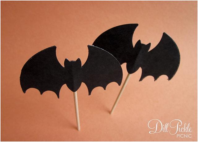 bat cupcake flags