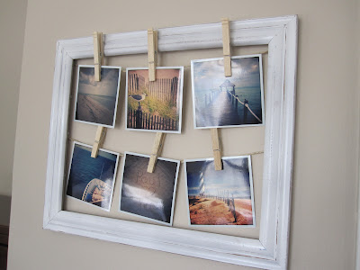 picture frame into a beach frame