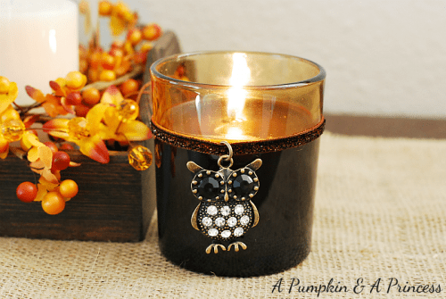 fall candle centerpiece (via apumpkinandaprincess)