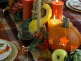vegetables and fruit tablescape