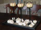 pumpkin stand centerpiece