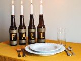 fall bottle centerpiece