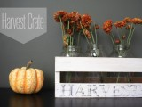 harvest crate centerpiece