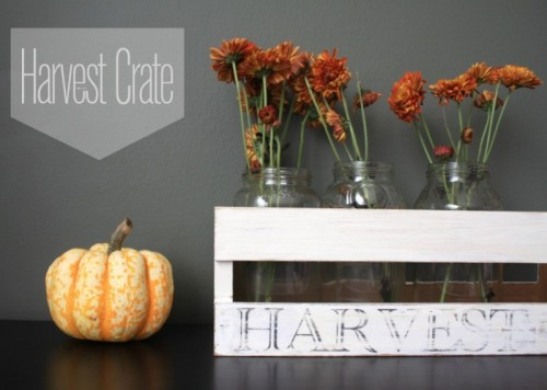harvest crate centerpiece (via letsgosunning)