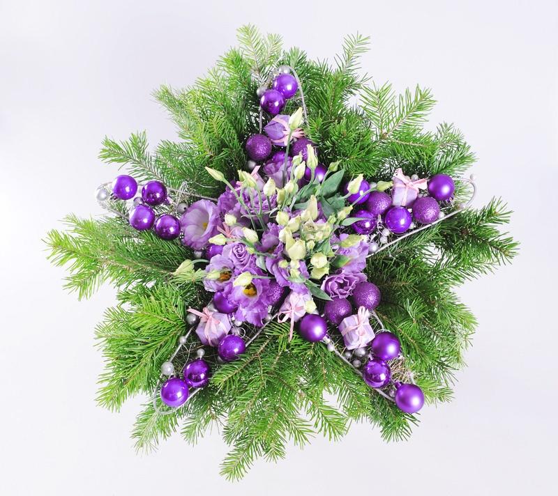 DIY Floral Christmas Star