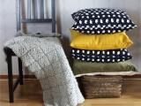 grey crochet blanket