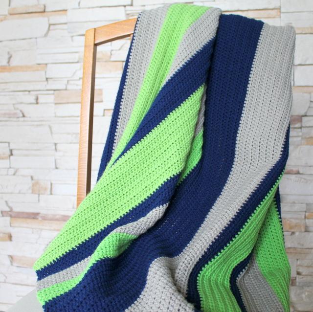 simple boy crochet blanket