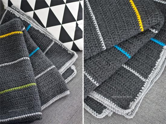 man crochet blanket