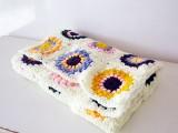 sunburst granny squares blanket