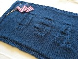 USA knit blanket
