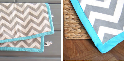 chevron throw blanket (via thegildedhare)