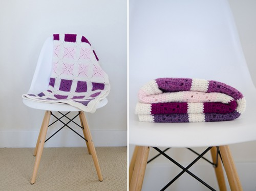 colorblock granny square blanket (via livemodernly)