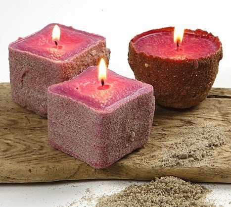 beach sand candles (via completely-coastal)
