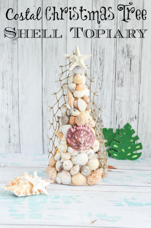 sea shell Christmas tree topiary (via natashalh)