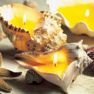sea shell candles (via completely-coastal)