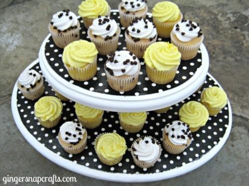 fabric cupcake stand