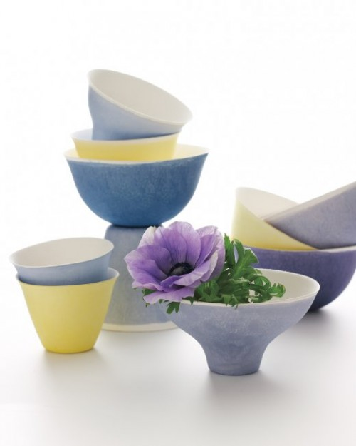 dyed cups and bowls