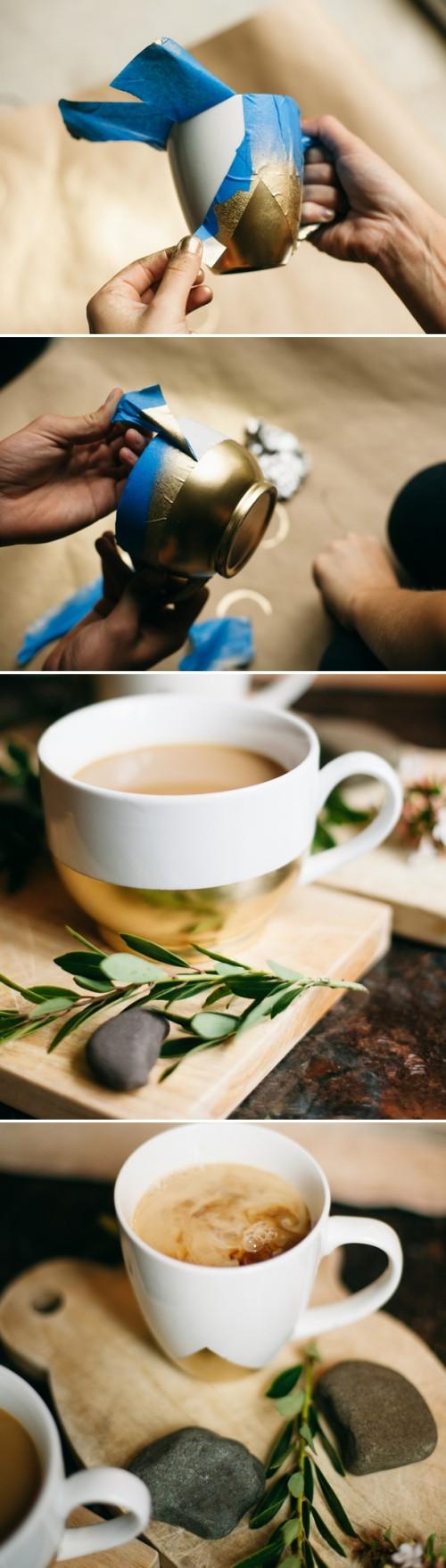 gold dipped mugs (via garlandofgraceblog)
