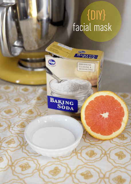 baking soda and grapefruit cleaning mask