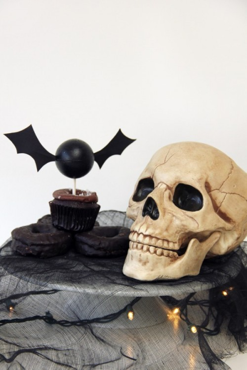 unique bat cupcake topper