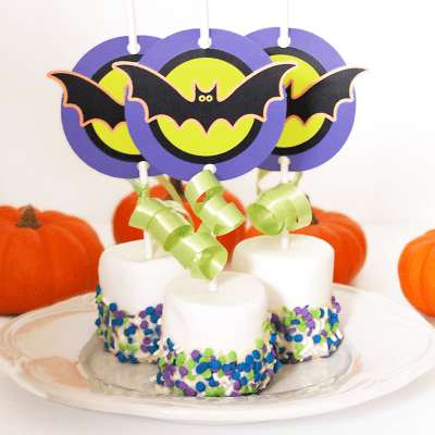 halloween treat cupcake toppers (via maddalee)