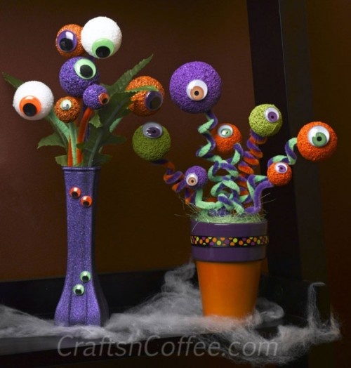 spooky eyeball bouquet (via shelterness)