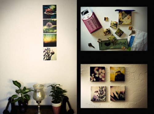Amazing DIY Photo Tiles As Wall Art