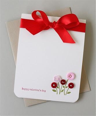 DIY button bouquet card