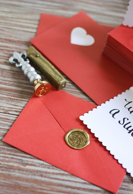 red and white Valentine's Day cards